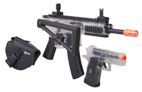 Crosman Ready To Play AirSoft Kit (2 Guns, Holsters, BBs and Speedloader)