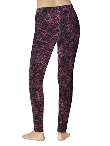 Cuddl Duds ClimateRight Women's Stretch Fleece Warm Underwear Leggings (S - Abstract Scroll)