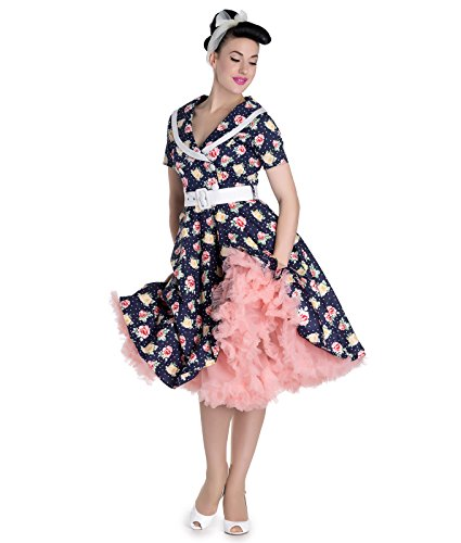 Hell Bunny 50's Emma Vintage Style Floral Robe à Pois