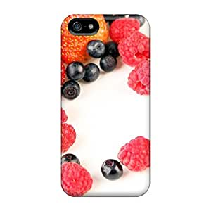 Ultra Slim Fit Hard StaceyBudden Cases Covers Specially Made For Iphone 5/5s- Food Berries Fruits Nuts Berry Heart