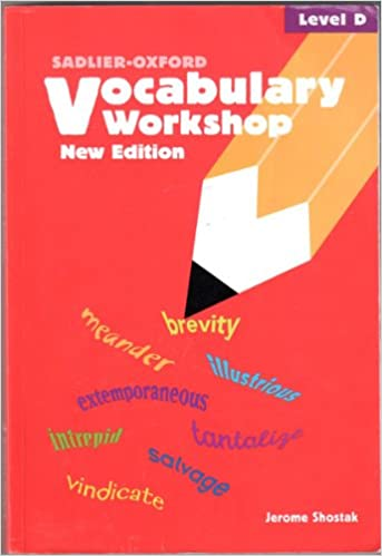 Vocabulary Workshop: Level D: Jerome Shostak: 9780821571095 ...