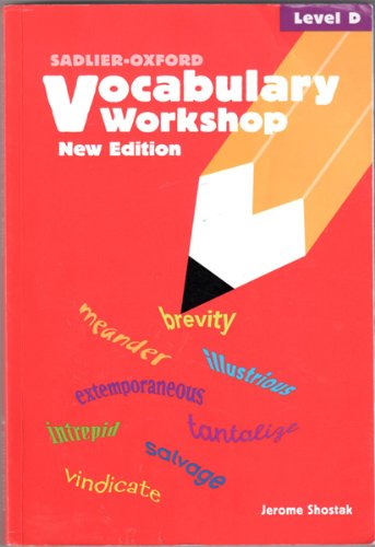 Vocabulary Workshop: Level D