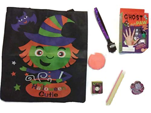 10pc. Halloween Ghost Paw Beauty Nail Art Toy Game Kit Reusable Tote-Included]()