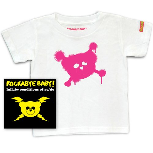 Rockabye Baby! Lullaby Renditions of AC/DC + Rockabye Baby 100% Organic Cotton Toddler T-Shirt -