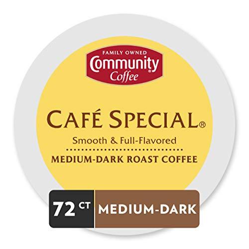 Community Coffee Cafe Special, Medium, Dark Roast, 72 Count