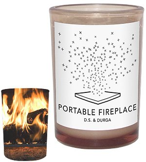 Portable Fireplace Candle 7 oz by D.S. & Durga