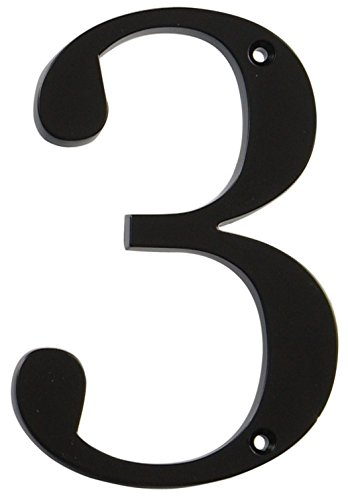 Distinctions by Hillman 843143 4-Inch Flush-Mount Black House Number - 6 House Number Inch