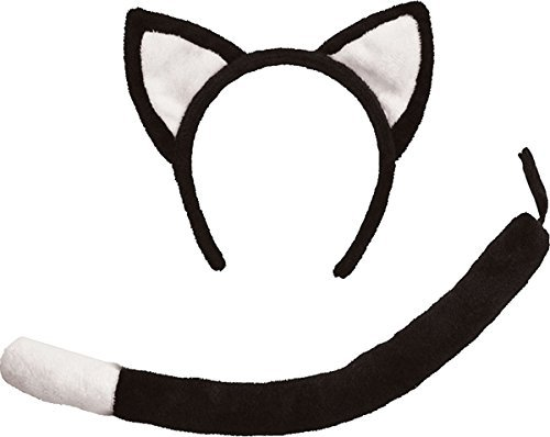 Uk Tail Costume Cat (Black Children's Cat Ears & Tail)