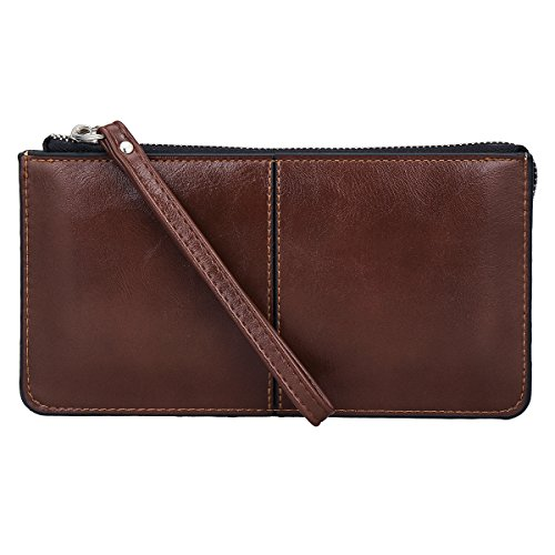 xhorizon Smartphone Zipper Wristlet Leather Wallet Case Handbag for iPhone X 8+ 7+ 8 7 Samsung S8 S8Plus Note8 HUAWEI HTC LG and Other Smartphones