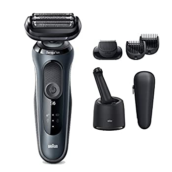 Image of Braun Series 6 6075c Electric Razor for Men with SmartCare Center and Beard Trimmer, Wet & Dry, Rechargeable, Cordless Foil Shaver, Black Health and Household