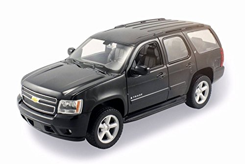 Welly 2008 Chevy Tahoe SUV, Black 22509W/BK - 1/24 Scale Diecast Model Toy Car