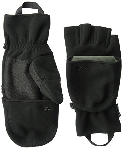 Outdoor Research Gripper Convertible Gloves, Black, Small