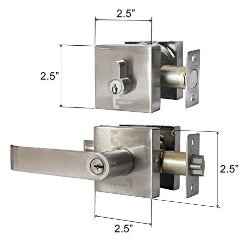 Constructor Guardian Entry Combo Lock Set Lever Deadbolt Single Cylinder Door Satin Nickel