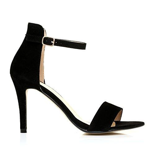 Negro UK femme ShuWish Color Ante Sandales pour Y77f0g
