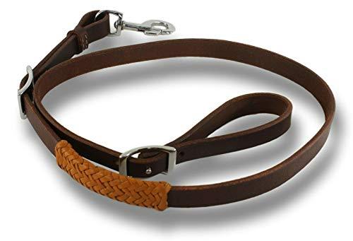 Latigo Leather Tie Down - D.A. Brand Latigo Leather Tie Down Strap w/Braided Leather Trim Horse Tack