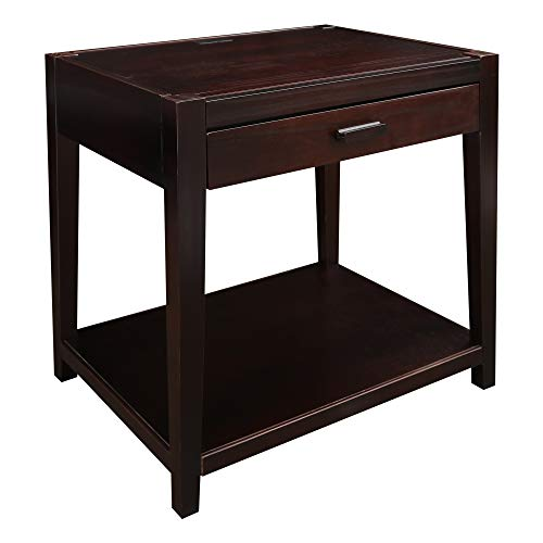 Casual Home 649-23 Notre Dame Nightstand with USB - Table 26 Inch