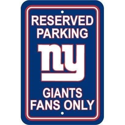 NFL New York Giants Plastic Parking Sign