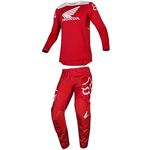 Fox Racing 2019 180 HONDA Jersey and Pants Combo Offroad Gear Adult Mens Red Large Jersey/Pants 34W
