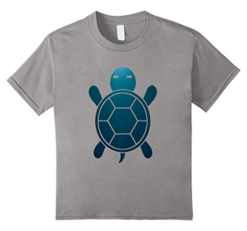 Kids Turtle Shirt - Cool Tortoise Shirt 6 Slate Tortoise Slate