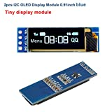 MakerFocus 2pcs I2C OLED Display Module 0.91 Inch
