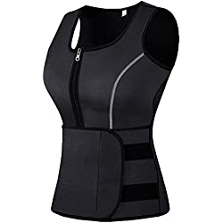 Mpeter Sweat Vest for Women, Slimming Body Shaper, Weight Loss (X-Large, black2)