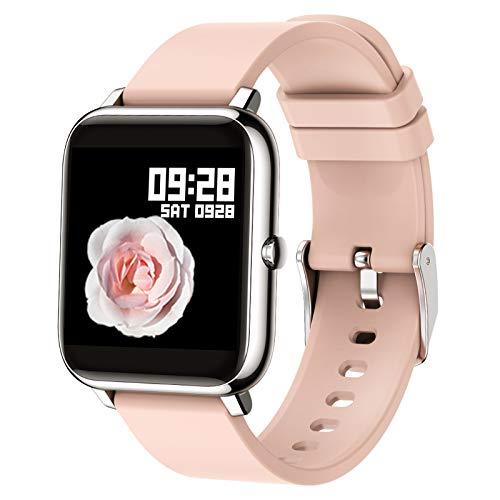 Popglory Smartwatch, fitnesstracker met bloedzuurstof, bloeddruk, hartslagmeter, IP67 waterdicht Smartwatch…