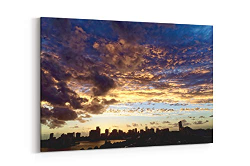 "Nature Sunset Outdoors and Sunlight in Rotterdam Netherlands - Canvas Wall Art Gallery Wrapped 26""x18"" - .75"" Depth"