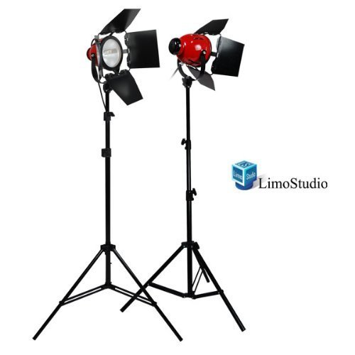 LimoStudio Photography Studio 1600W Tungsten 2 Barndoor Studio Video Film Continuous On Lighting Light Kit, AGG1765 (Studio Lighting Tungsten)