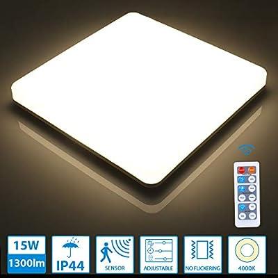 Oeegoo llevó luces de techo cuadradas de 15W con detector de ...
