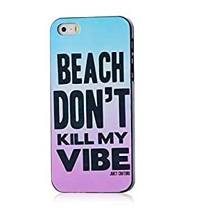 TOPMM Phrase Pattern Hard Case for iPhone 5/5S