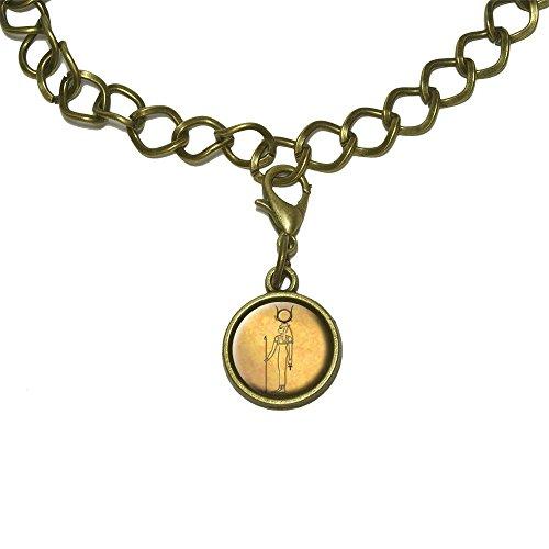 Hathor Ancient Egyptian Goddess Charm with Chain Bracelet