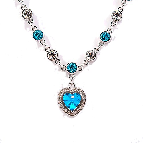 Andy Pandy Costume (NL-02102C6 Crystal Alternative Heart-Shaped Women Necklace)