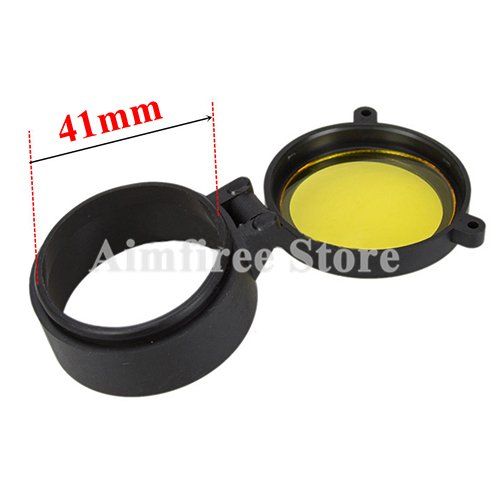 Cheap Aimfiree Hunting Rifle Scope Caliber Quick Flip Spring up Open Lens Cover Dustproof Objective Cap (41mm)