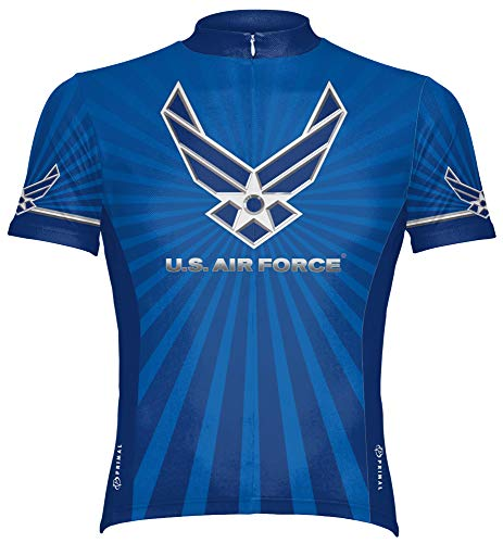 Primal Wear Men's US Air Force Military Short Sleeve Cycling Jersey - USAFR6JER (XL)