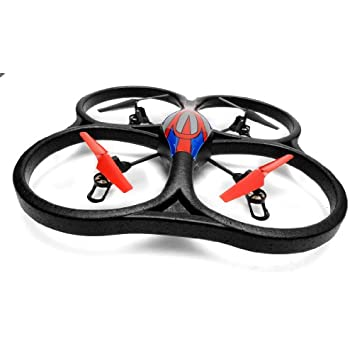 WL Toys V262 Cyclone UFO 4 Channel 6 Axis Gyro Quadcopter 2.4Ghz Ready to Fly (Red)