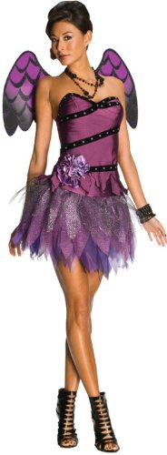 [Secret Wishes Women's Enchanting Creature Adult Heavenly Body Costume, Purple/Black, Medium] (Sexy Fairy Halloween Costumes)