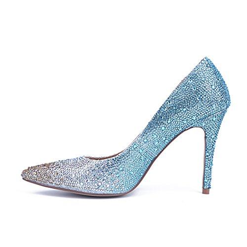 Blu Donna blu Con Zeppa Sandali Minitoo xqI8zOw