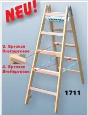 Krämer - Peldaño de escalera de madera m. peldaños anchos, longitud 4,04 m, 2 x 14 peldaños, perp. altura 3,80 m de anchura de haz de 70 x 24 mm, peso de 30,6 kg: Amazon.es: Bricolaje y herramientas
