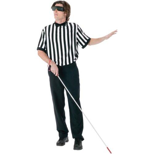 FunWorld Men's  Blind Referee Kit, Black, One Size