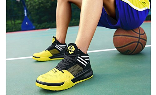outlet wiki discount manchester great sale JiYe Men's Lightweight Basketball Shoes Women's Sports Running Sneakers Black Yellow clearance big discount sale geniue stockist in China for sale DsM7naBC