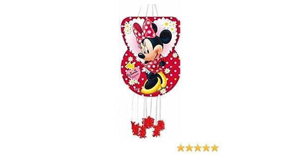 Minnie Mouse - Piñata Silueta lunares, 46X65 cm para cumpleaños y celebraciones (Verbetena 014000295)