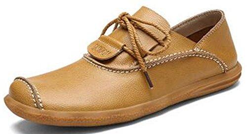 Fashion en Men's Cuir Pointu Leather Taille de Chaussures Bleu Business family Punk Grande wnpBqA0E0