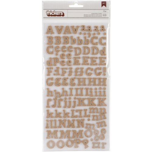 (Diy Thickers Alphabet Stickers 6x11 Sheets 2/Pkg-Eric/Burlap Chipboard)
