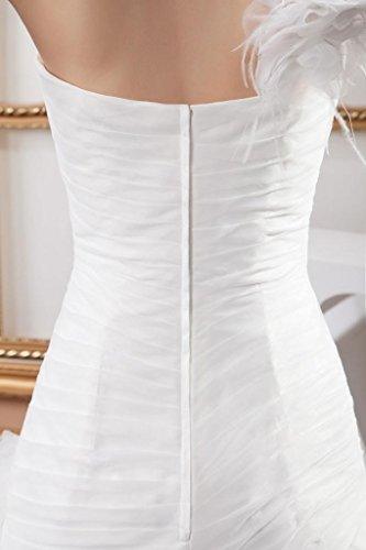 Schulter Brautkleid Neu Weiß Elegant Organza Design 1 BRIDE GEORGE fxRqT1Of