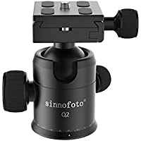 Sinnofoto Q02 Aluminium Duty Photography Camera Tripod Ball Head 360 Degree Fluid Rotation Tripod Ballhead For DSLR Camera Quick Release Plate