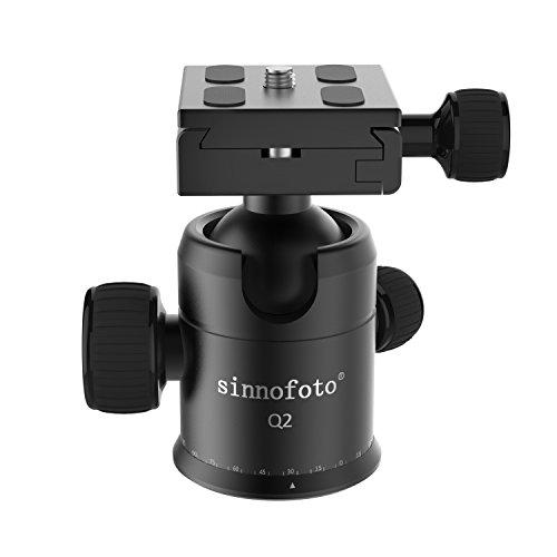 Sinnofoto Q02 Exquisite CNC Shaped Camera Tripod Ball Head W