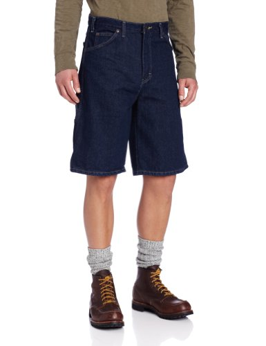 Carpenter Blue Jeans Shorts - Dickies Men's 11 Inch Denim Carpenter Short, Indigo Blue, 32