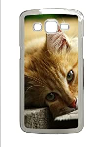 Young Cat Lying On Wooden Boards Custom Samsung Galaxy Grand 2 7106 Case Cover ¨C Polycarbonate ¨CTransparent