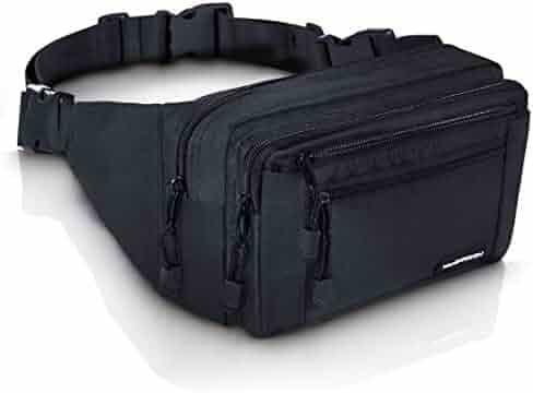 VAN BEEKEN Fanny Pack for Men Women Belt Bag Waist Bag Hip Bag I Waterproof Bum Bag I Supreme Waist Pack Phanny Pack for Hiking Travel Running, Black