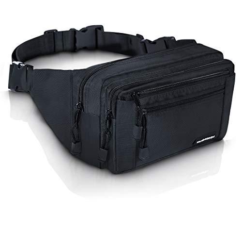 VAN BEEKEN Bauchtasche Hüfttasche Gürteltasche mit 2 Hüftgurten für Damen und Herren I wasserabweisend und reißfest I Outdoor Gurttasche zum Wandern Reisen Urlaub I Hip Bag, Bauchbeutel